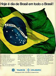 propaganda Varig Cruzeiro - 1976.anos 70.  Reclame 1976.  década de 70. os anos 70; propaganda na década de 70; Brazil in the 70s, história anos 70; Oswaldo Hernandez;