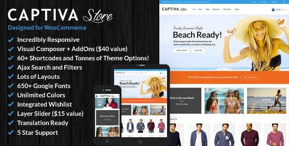 Captiva v1.6 - Responsive WordPress- Theme bán hàng
