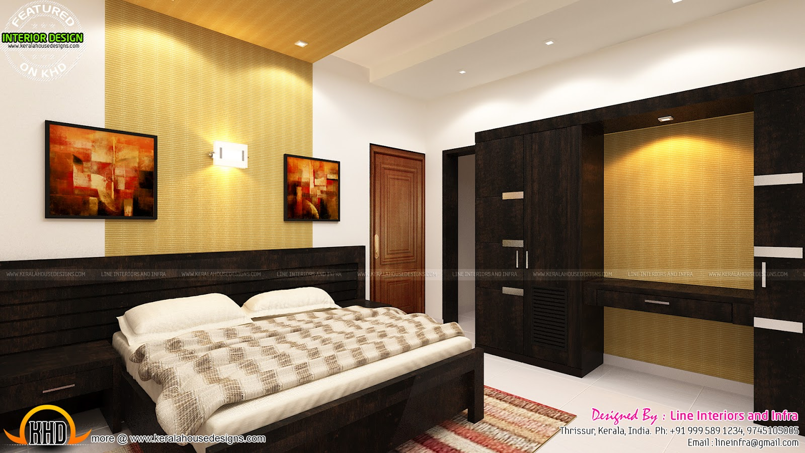 Beautiful Interior Designs Of Bedrooms Kerala Home