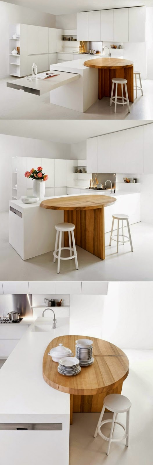 White Kitchen Worktops fascinating ideas for modern kitchen worktops of wood and glass
