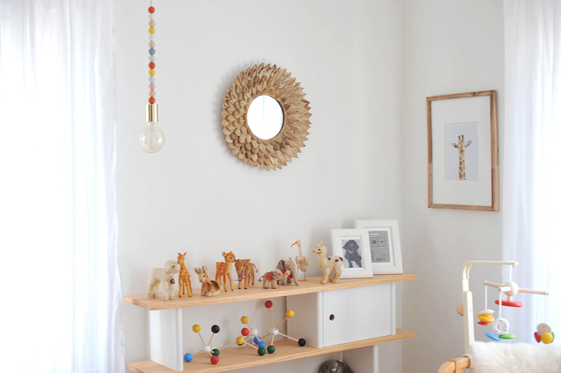 DIY Wooden Bead Pendant Light | Modern Nursery