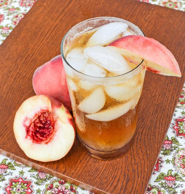 Ginger Peach Sun Tea