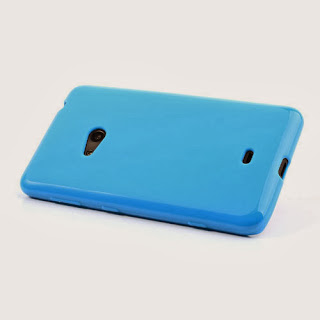 Frosted TPU Jelly Case For Nokia Lumia 625 - Blue