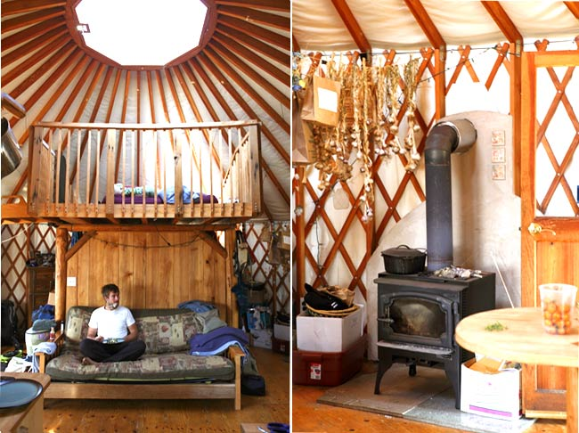 Moon to moon camping season part 1 yurts for Yurt bathroom designs
