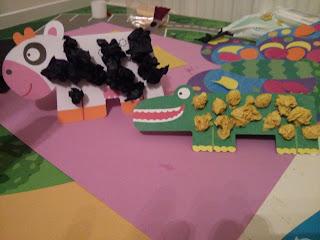 crocodile and cow