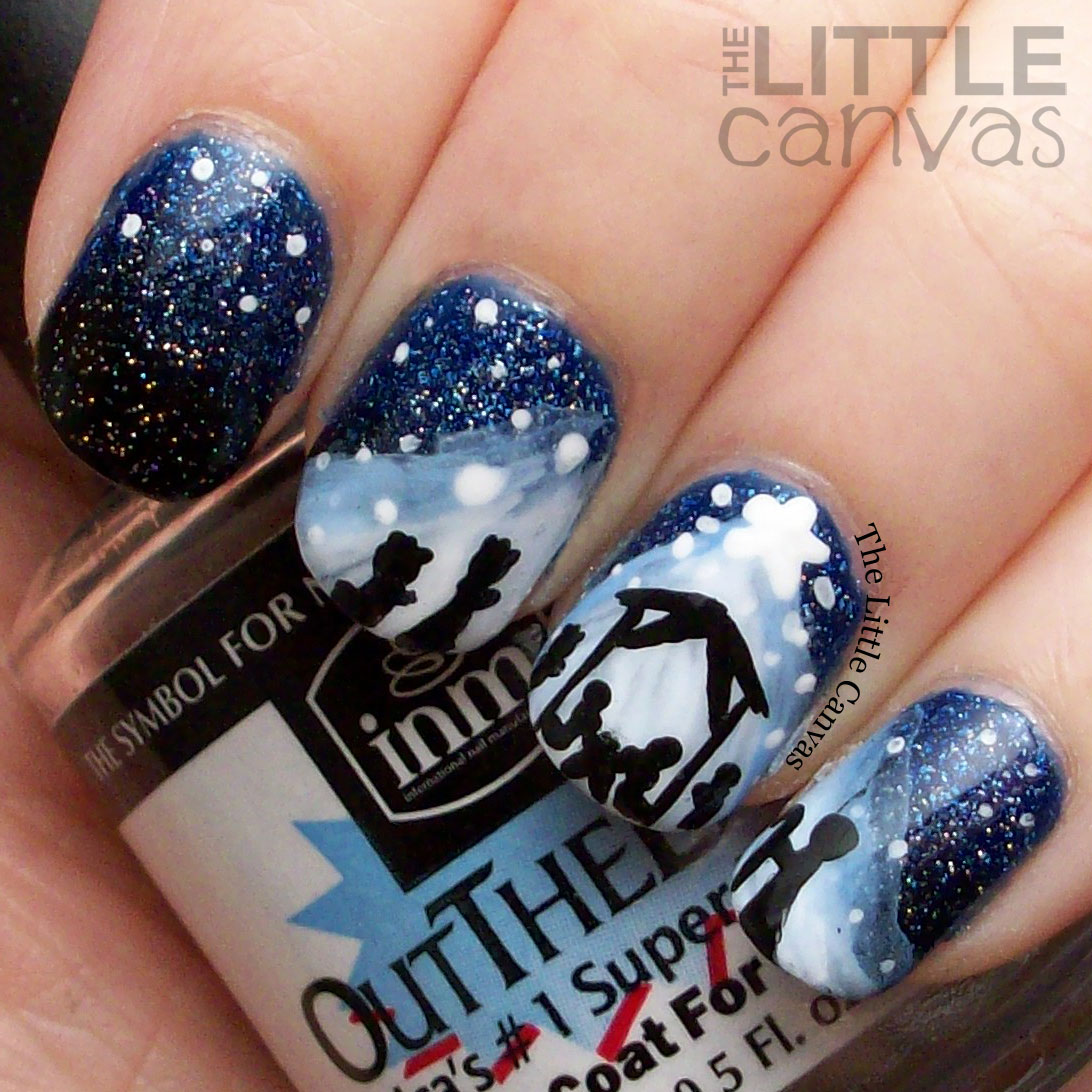 Awesome Nativity Scene Nail Art Sketch - Nail Art Design Ideas ...