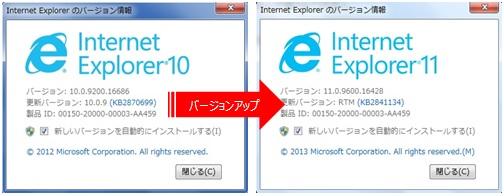 Internet Explorerのバージョンを11にアップデートしたらインターネットに接続できなくなった場合