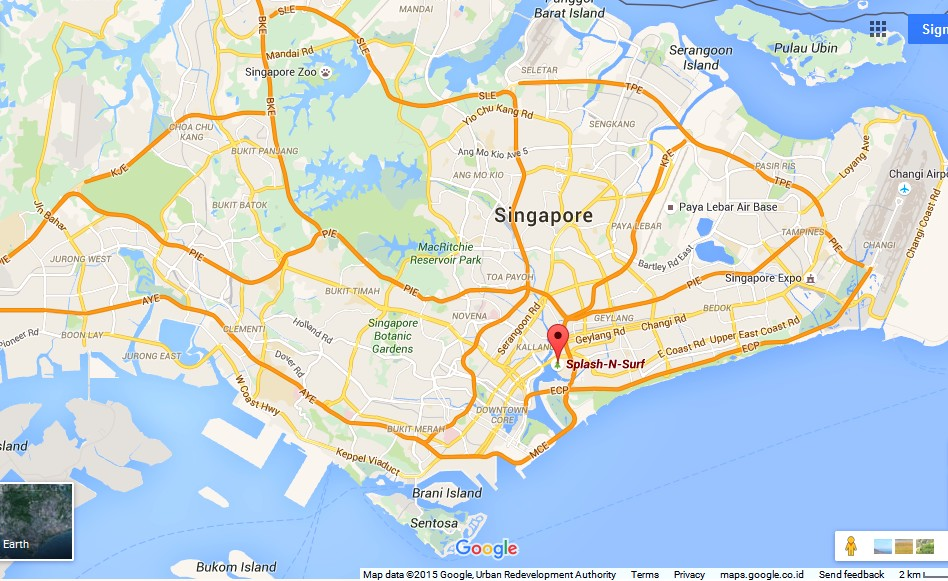 SplashNSurf Singapore Map Tourist Attractions in Singapore – Singapore Tourist Map