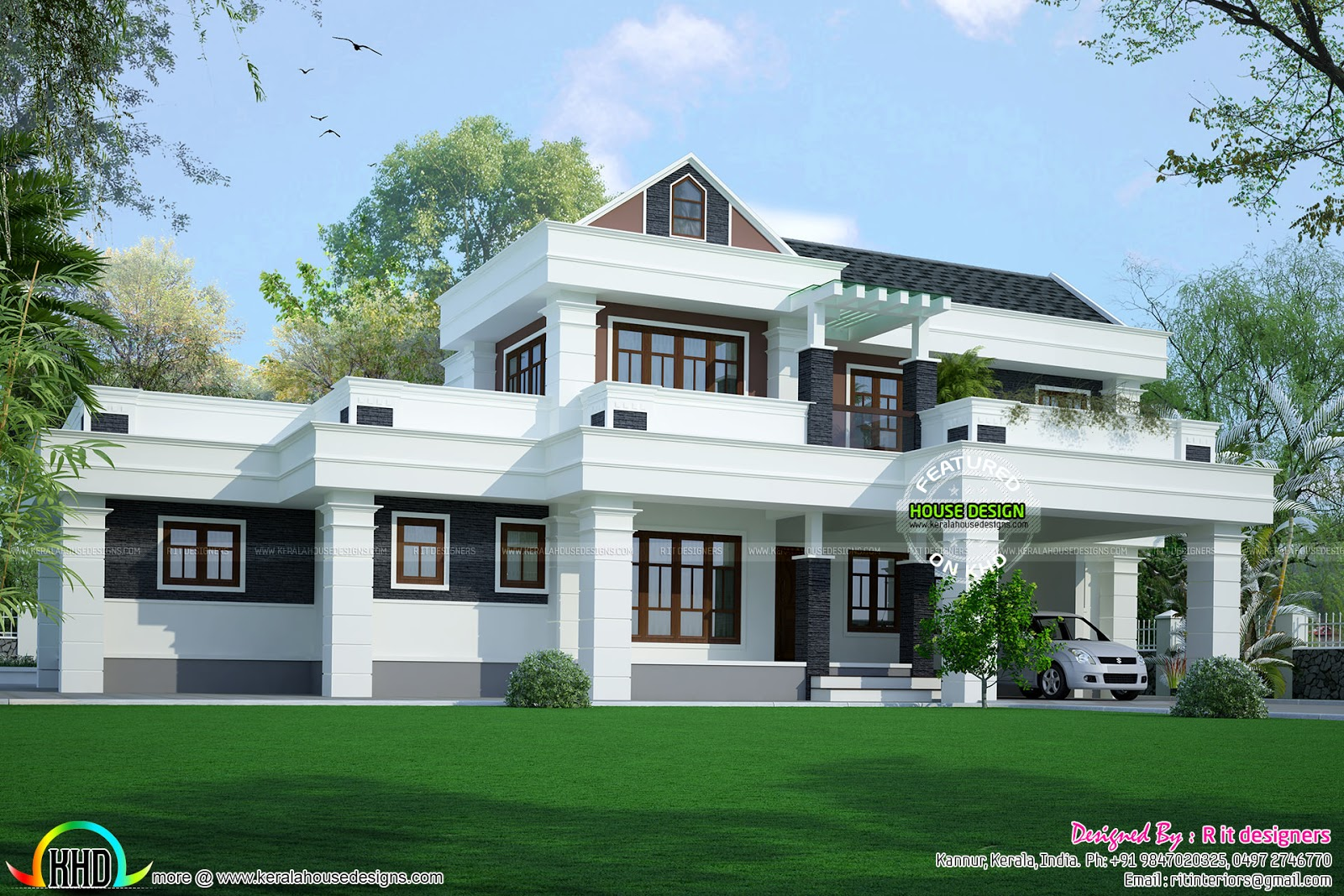 2788 sq ft modern house in keraa kerala home design and for Modern house in kerala