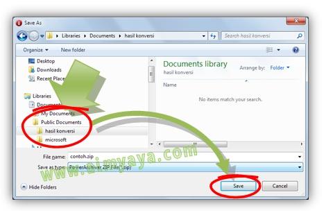 Gambar: Langkah 5. Cara melakukan Convert PDF to WORD secara online.  Konversi file PDF ke word menggunakan pdfonline. Simap file hasil konversi ke harddisk komputer