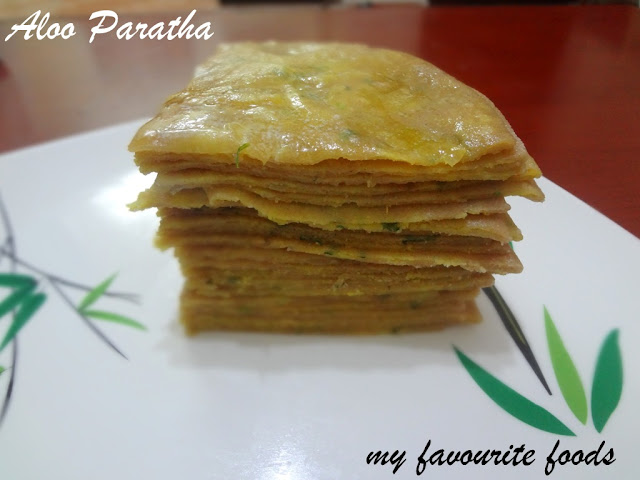 Aloo Paratha (Potato Stuffed Flat Bread)