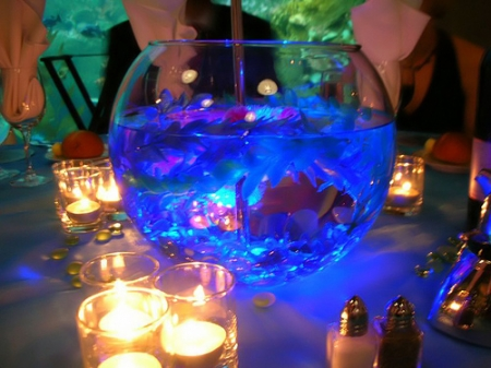 Glass Bowl Wedding Centerpiece
