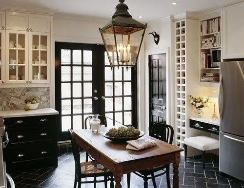 The table - Painting interior doors black ...