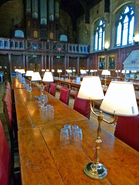 Balliol, Oxford, hall interior