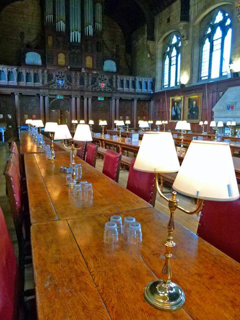 Balliol, Oxford, hall interior