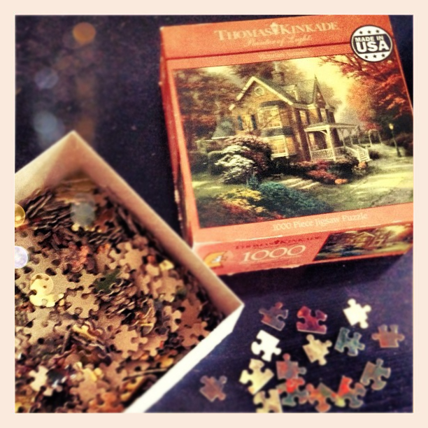 thomas kinkade fall puzzle