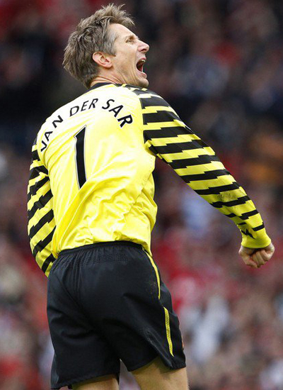 Man Utd Van der sar last macth for Manchester United Barclays Premier League