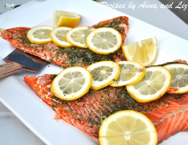 Grilled wild Alaskan Salmon on cedar planks with only herbs and lemon ...
