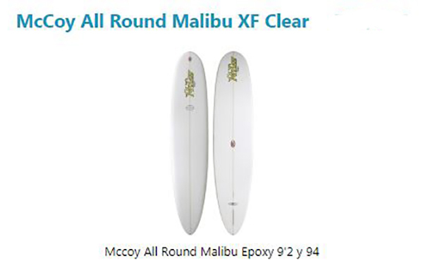 McCoy All Round Malibu XF Clear