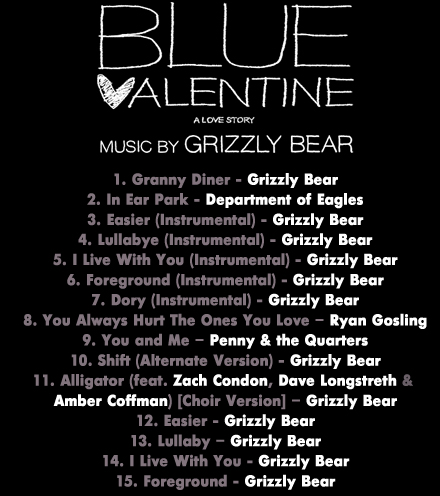 Blue Valentine Movie on Blue Valentine Movie Soundtrack