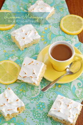#lemon, #meringue, #ricekrispies, #bars, #squares, #snack, #dessert