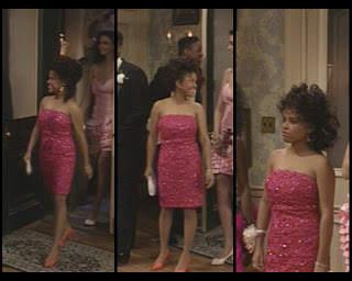 The Cosby Show Huxtable fashion blog Michelle Thomas Justine prom dress