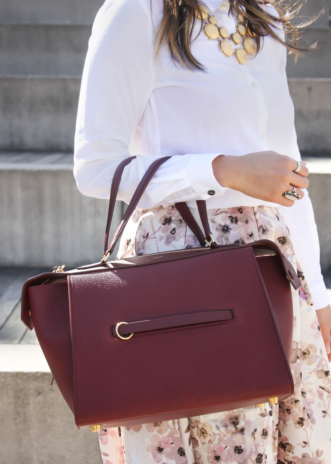 Layers of Chic: Burgundy for Fall: Celine Ring Bag