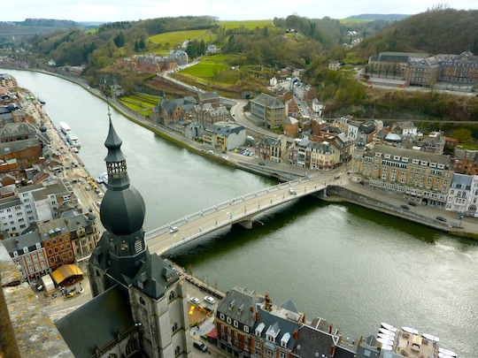 View from Citadel in Dinant Belgium