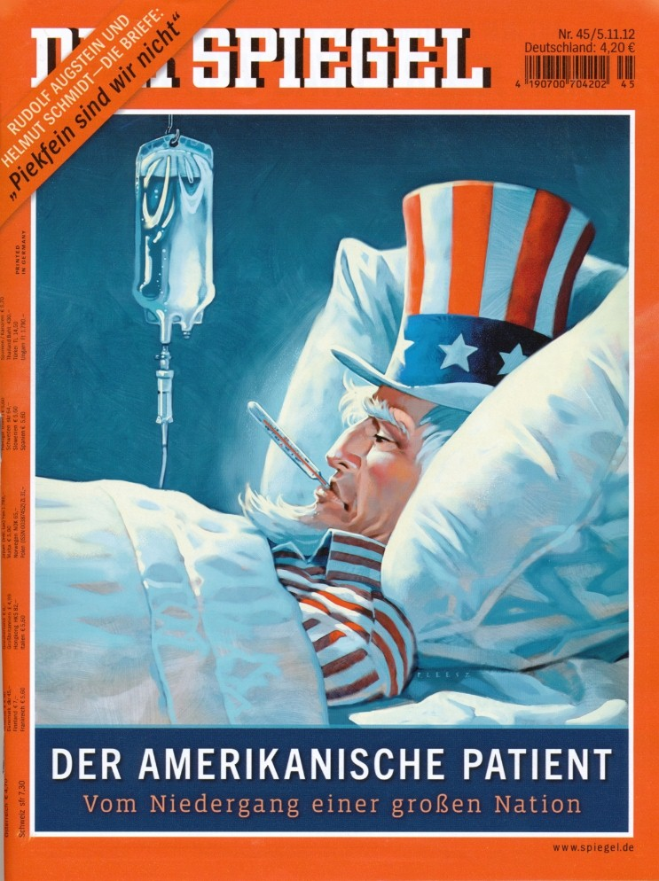 cover story of german magazine der spiegel from november 5 2012 the american patient. Black Bedroom Furniture Sets. Home Design Ideas