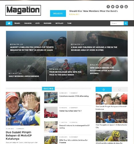 Magation Blogger Template