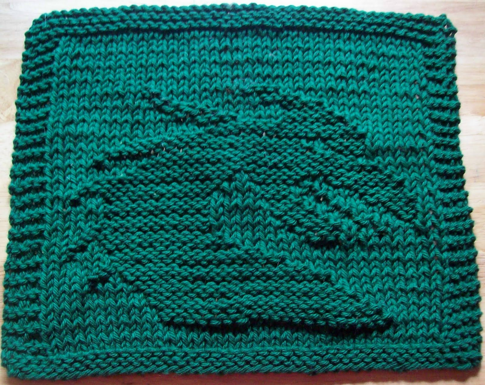 Knit Dragon Pattern : DigKnitty Designs: Dragon Head Too Knit Dishcloth Pattern