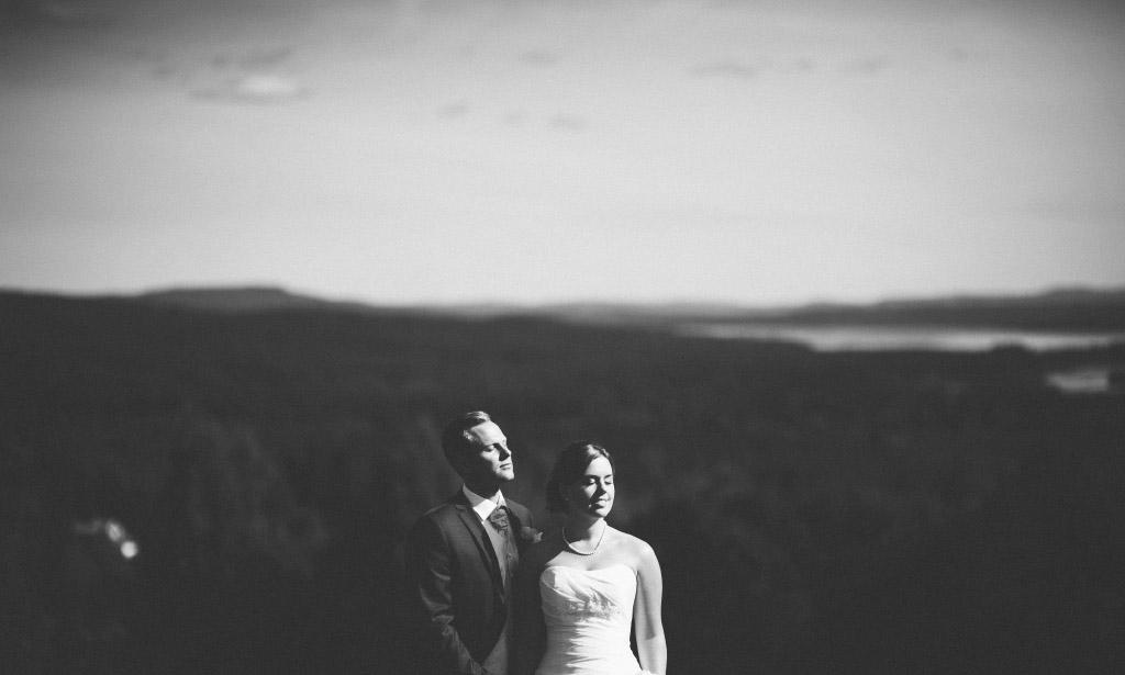 Bröllopsfotografering på Dössberget