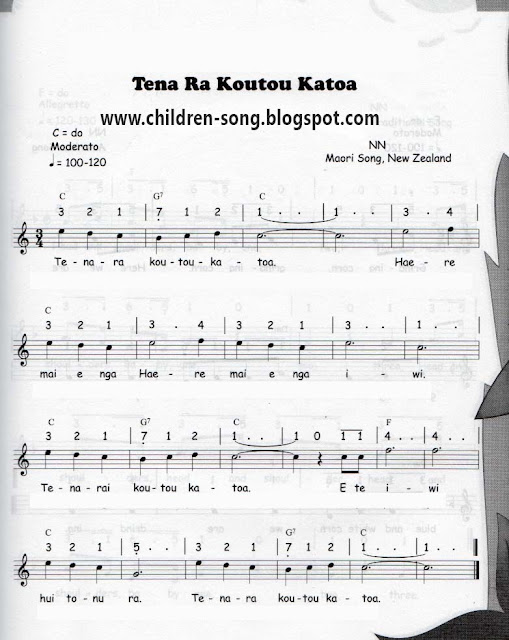 Tene Ra Koutou Katoa Song with Notes and Chords