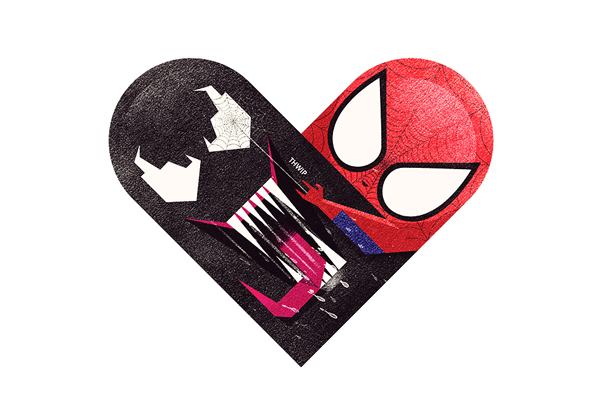 Versus/Hearts by Dan Matutina - The Symbiote & The Spider