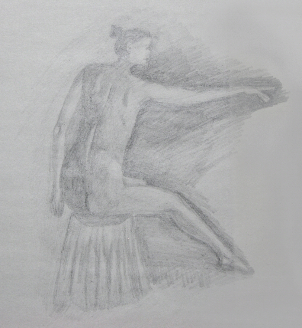 140928 - Day 27b - 30 in 30 Challenge - Graphite on newsprint -  Dave Casey - TheDailyPainter.jpg