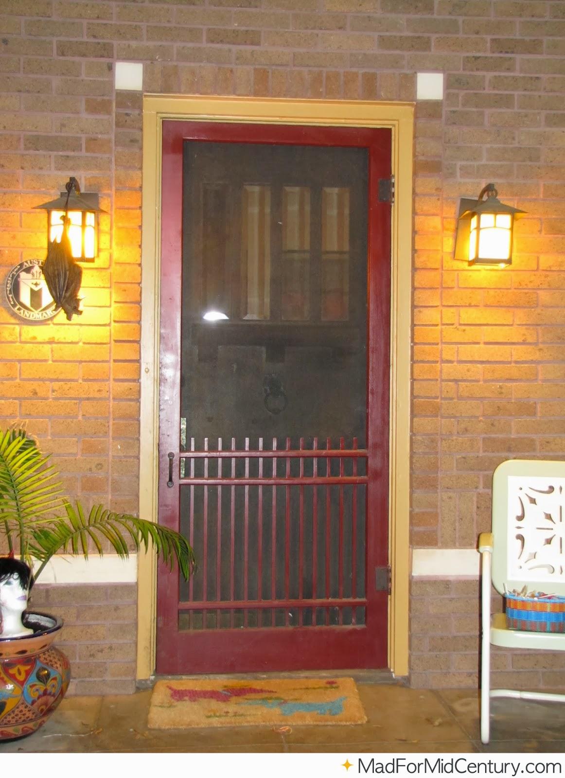 Vintage Screen Doors : Wooden front door big window home interior design