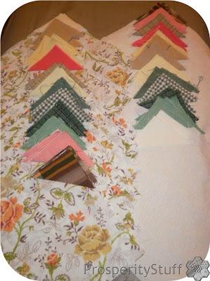 ProsperityStuff Snowball Corners on Vintage Sheets