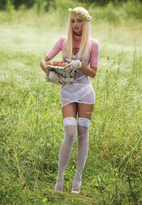 Miranda Kerr as Cicciolina in V Magazine