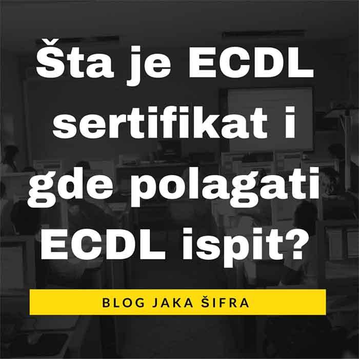 "ECDL je ""Evropska kompjuterska vozačka dozvola"" tj. sertifikat o posedovanju osnovnih znanja iz oblasti računarstva i informatike."