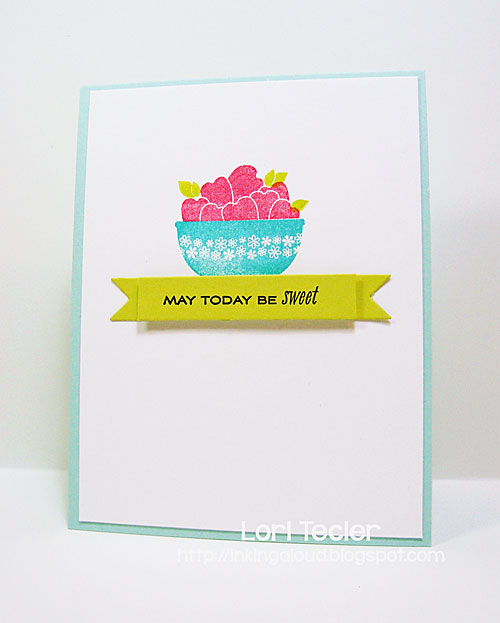 May Today Be Sweet card-designed by Lori Tecler/Inking Aloud-stamps and dies from Papertrey Ink