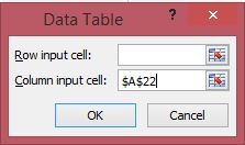 dialog data table