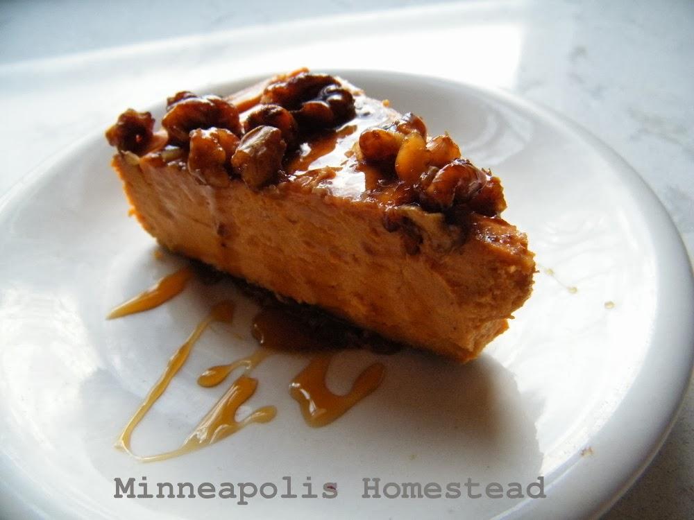 Minneapolis Homestead: Maple Walnut Sweet Potato Cheesecake Recipe