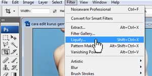 Adobe Photoshop CS3: Cara edit foto - bikin kurus gemuk badan CS3