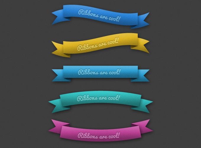 Ribbons Free PSD