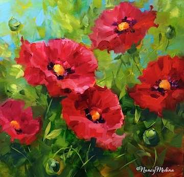 Nancy medina art some like it hot red poppies and a french httpnancymedinaneartstudioonlineworkszoom1549267 some like it hot red poppies mightylinksfo