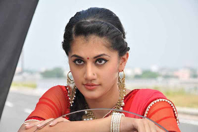 tapsee unseen in red sareepink dress hot images