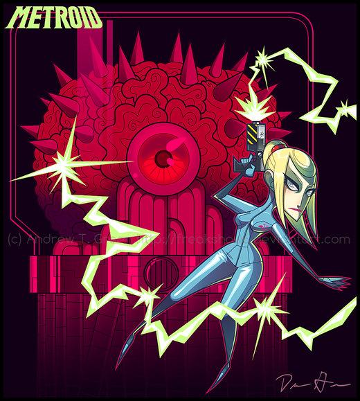 METROID - Red Alert por DrewGreen