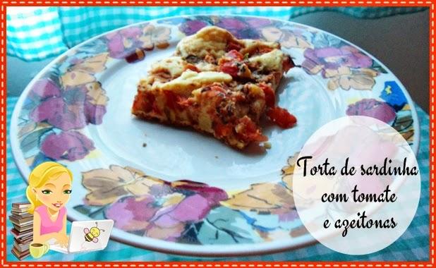 Torta fácil de sardinha com tomate