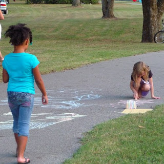 Block Party Ideas Sidewalk Chalk