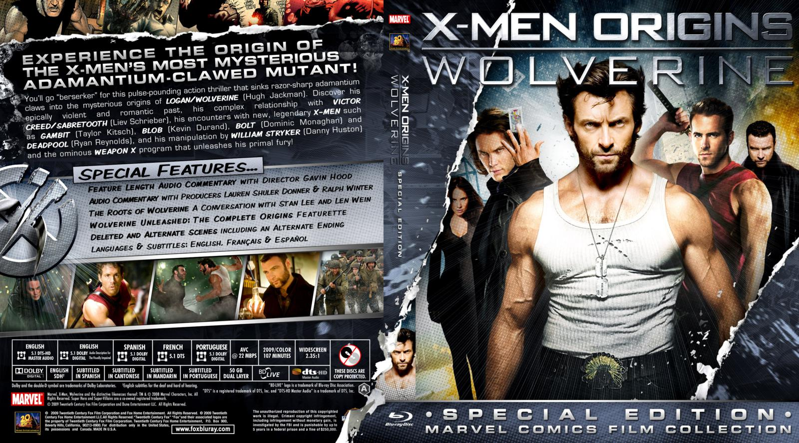 Capa Bluray X-Men Origins Wolverine